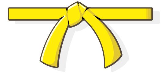 karate belt clipart