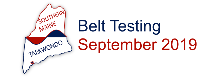 Southern Maine Taekwondo Belt Testing